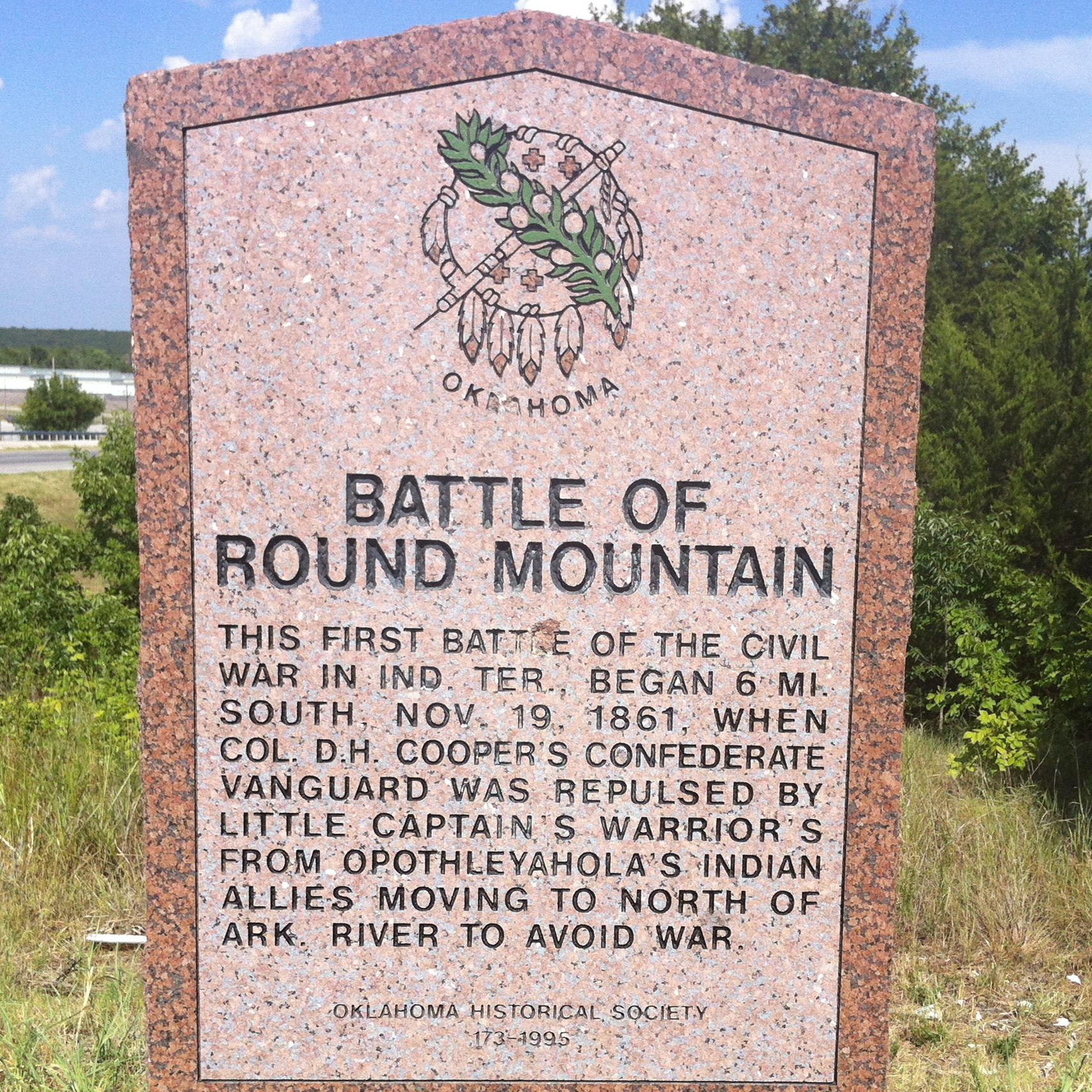 battle of round mountain historic marker