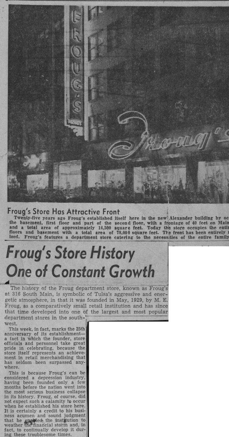froug's newspaper article