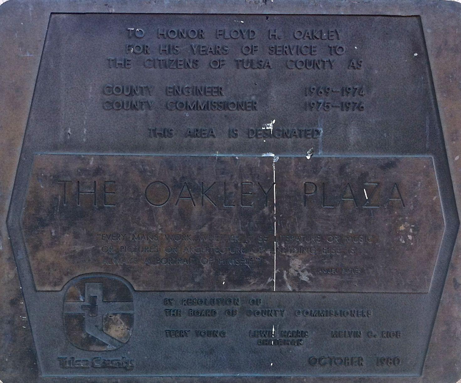 oakley plaza marker