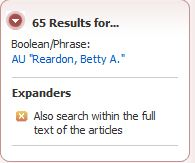 65 articles by reardon