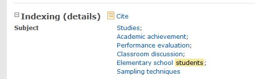 image shows subject terms: self-efficacy, learning, mathematics, students, study skills