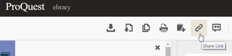 ebrary share link icon