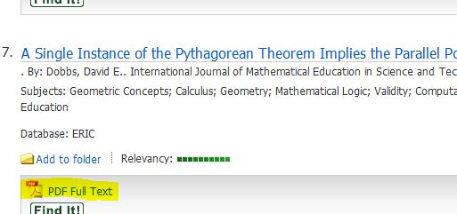 """screen shot from ebsco ERIC showing a """"PDF"""" link"""