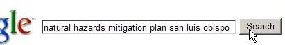 google search of natural hazards mitigation plan san luis obispo