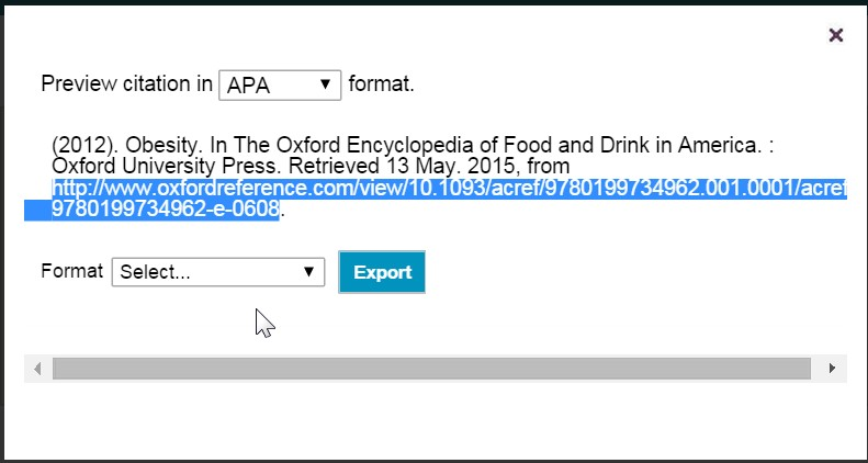 Oxford Reference APA format