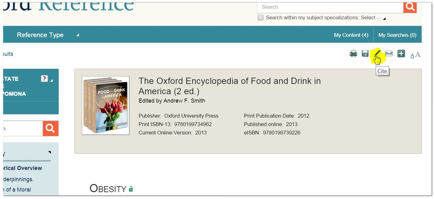 Oxford Reference Cite Icon