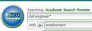 database search: civil engineering employment
