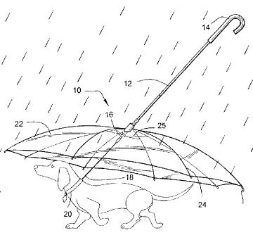 pet umbrella from patent 6,871,616