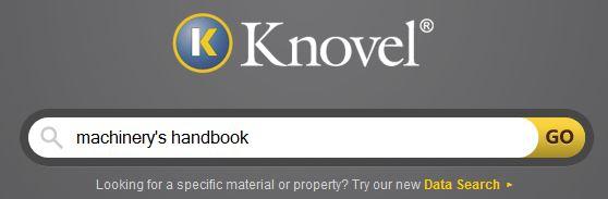 knovel search screen