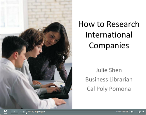 How to Research International Companies tutorial screenshot