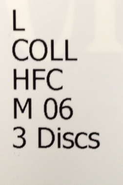 Compact disc classification number for music CDs