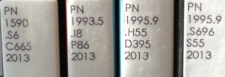 Row of LC Call Numbers