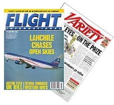 Trade magazine covers. Can be colorful, but always directed to members of a specific trade or business.