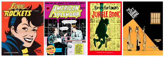 collage of graphic novels