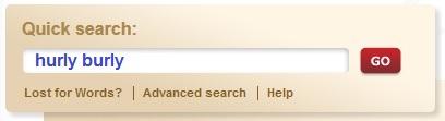 OED search box