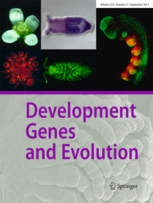 Dev Genes & Evol journal cover