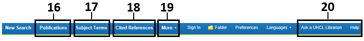 Illustration of Ebsco task bar