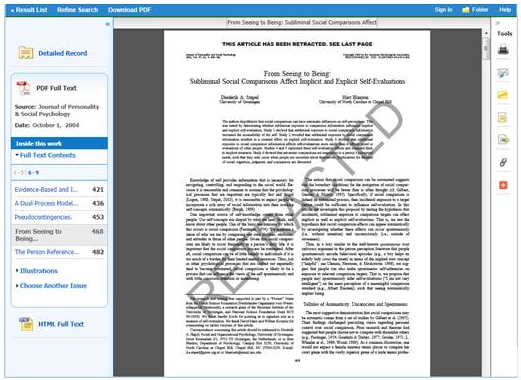 "PDF article with ""Retracted"" across the article page"