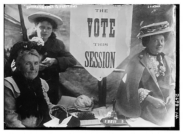 Three suffragettes circa 1910-1915