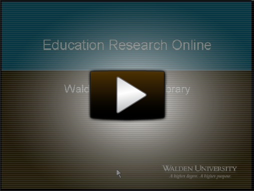 Education Research Online Webinar