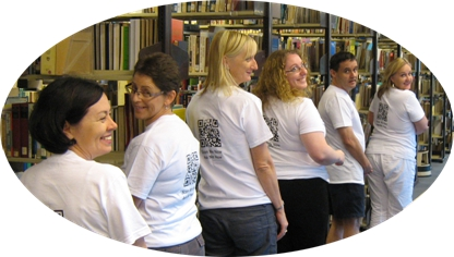 Your friendly library staff will be wearing t-shirts with QR codes on the back