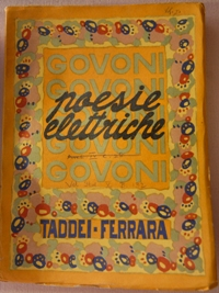 Corrado Govoni Poesie elettriche (Ferrara: A. Taddei, 1920)