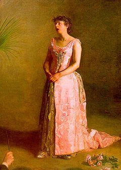 Concert Singer by Thomas Eakins
