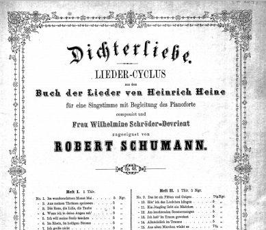 Schumann Dichterliebe title page of 1844 Peters edition