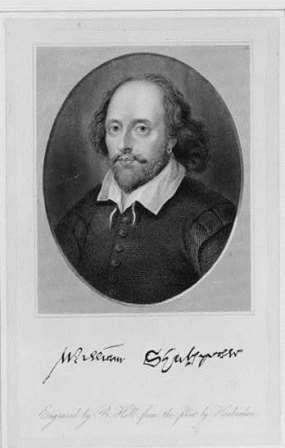 Early print of Shakespeare from the Library of Congress