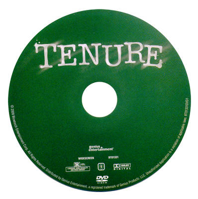 compact disc on which the word tenure is written