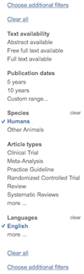 PubMed Filters (limits) image