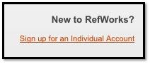 login refworks