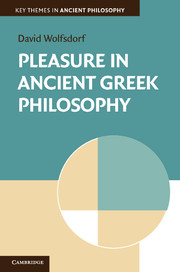 Pleasure in Ancient Greek Philosophy book cover