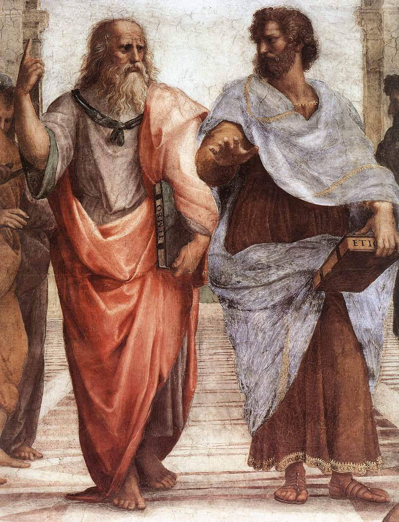 Plato and Aristotle by Raffaele