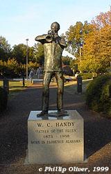 W. C. Handy statue, Wilson Park, Florence, Alabama