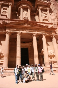 Brokcport students in Jordan