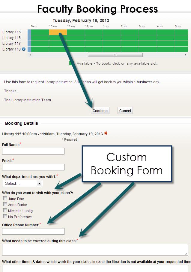 Libcal Booking Form