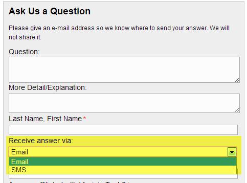 Question Form Choice