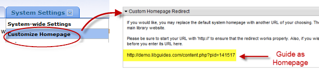 Homepage Redirect