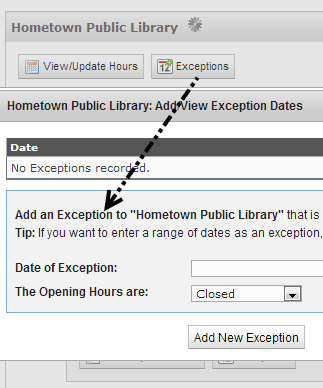 Add Exceptions