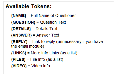 LibAnswers Template Tokens