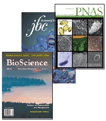 Covers of three journals