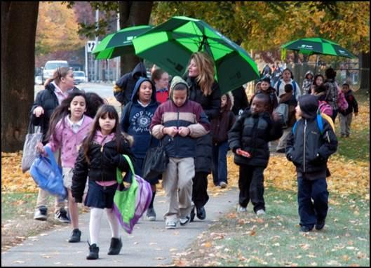 Brightwood Walking School Bus Program