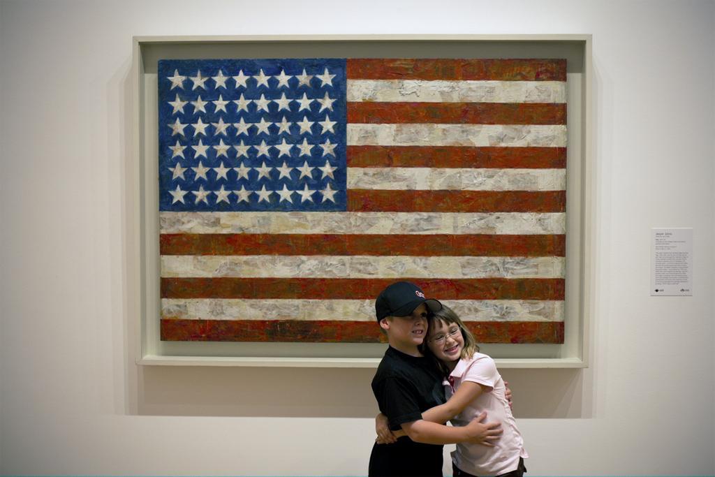 Jasper Johns Flag in Museum of Modern Art