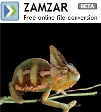 zamzar onine file conversion
