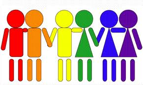 Sexually diverse couples joining hands