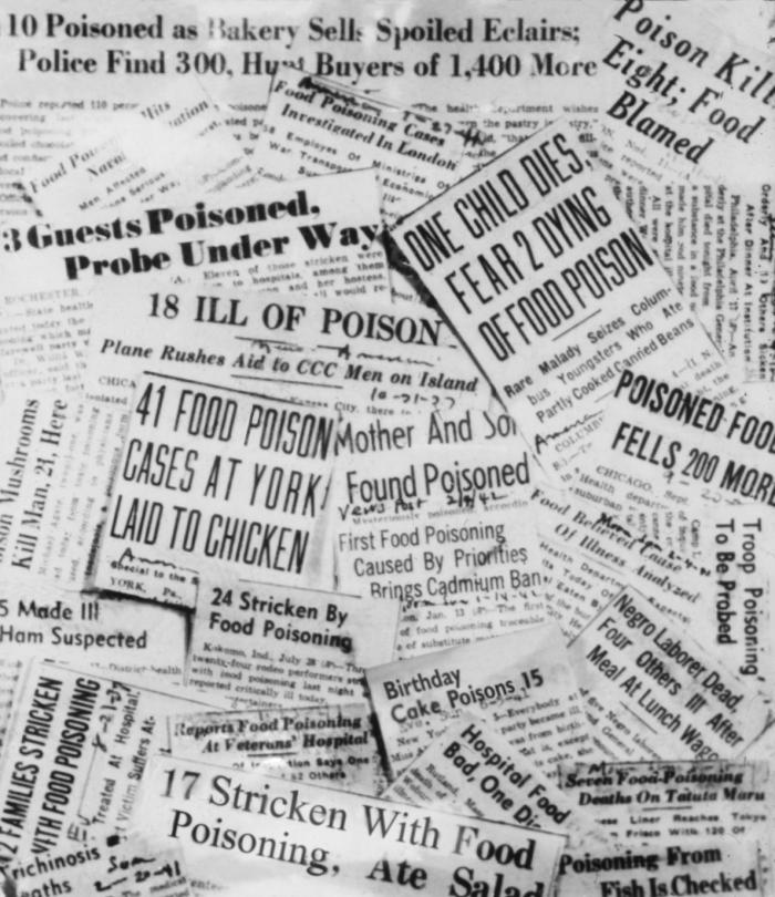 food poisoning: newspaper headlines