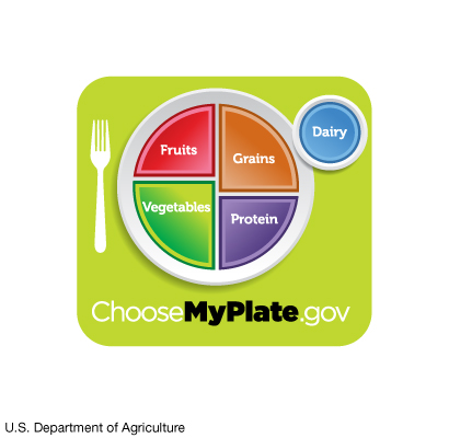 Balanced meal chart from choosemyplate.gov