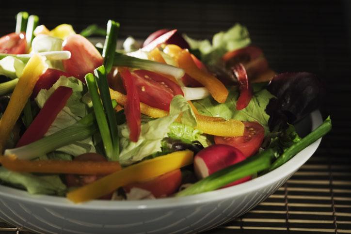 bowl of fresh, crisp salad
