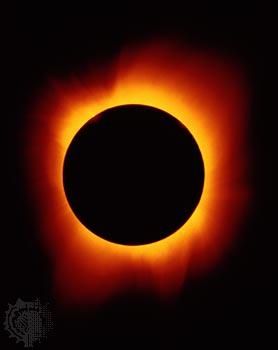 sun in solar eclypse